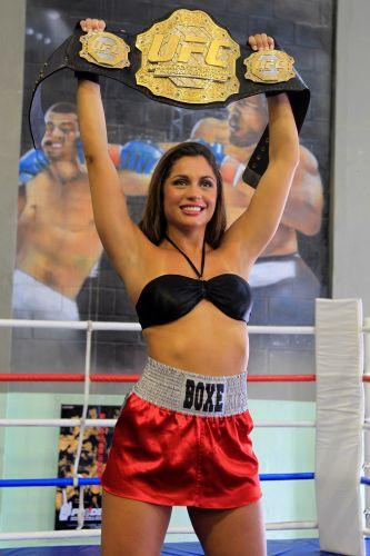 A ex-sister é tão fã da modalidade esportiva que já foi a Las Vegas e a Los Angeles, nos EUA, apenas para assistir a lutas